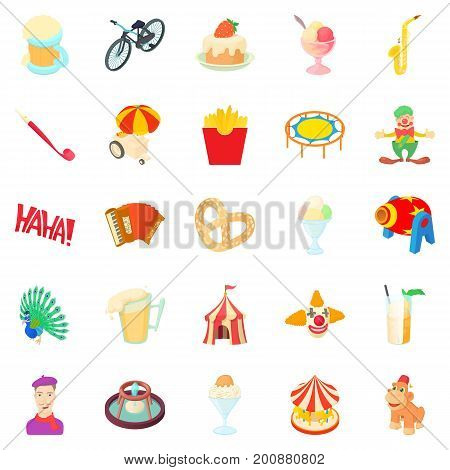 Rejoicing icons set. Cartoon set of 25 rejoicing vector icons for web isolated on white background