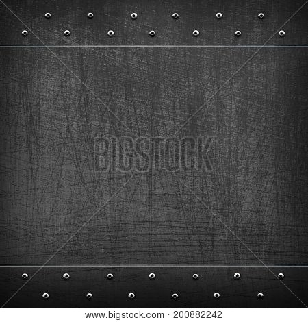 scratched black metal template background
