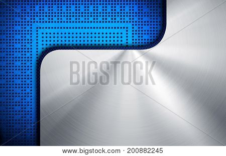 polished metal with chip background