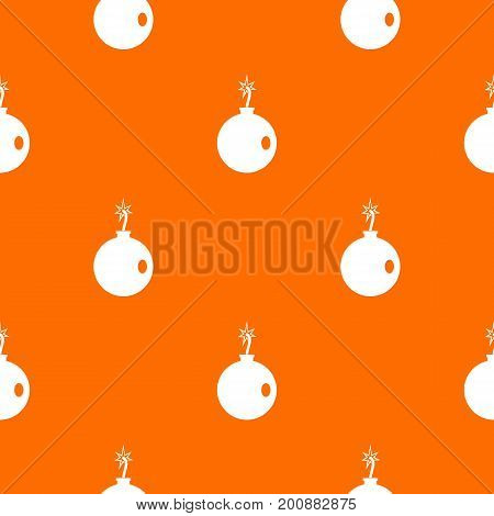 Cannonball pattern repeat seamless in orange color for any design. Vector geometric illustration