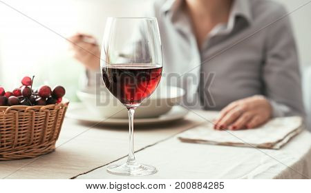 Wine Tasting At The Restaurant
