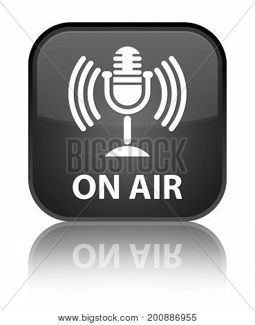 On Air (mic Icon) Special Black Square Button