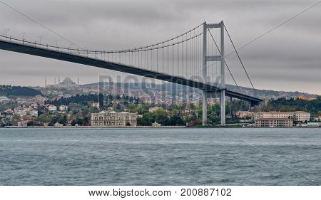 Bosporus Bridge at dusk time Ortakoy district Istanbul Turkey