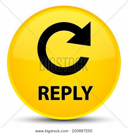 Reply (rotate Arrow Icon) Special Yellow Round Button