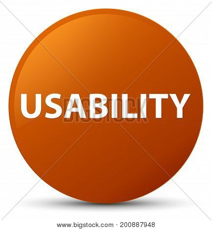 Usability Brown Round Button