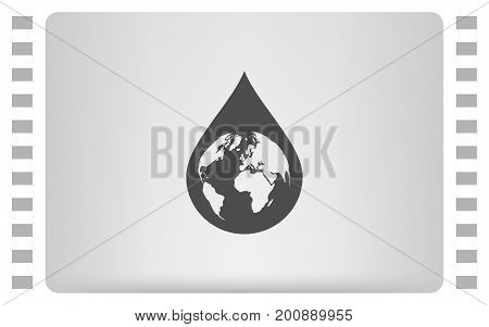 Earth In Water-drop