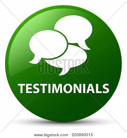 Testimonials (comments Icon) Green Round Button
