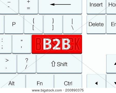 B2B Red Keyboard Button