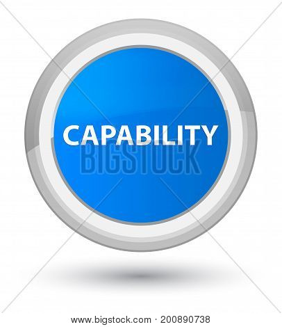 Capability Prime Cyan Blue Round Button