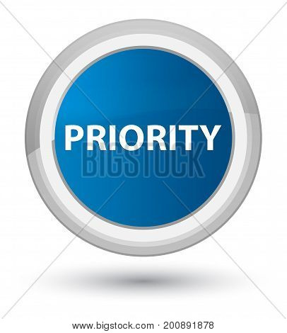 Priority Prime Blue Round Button