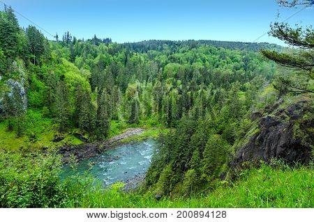 Snoqualmie River near Seattle Washington in the Pacific Northwest