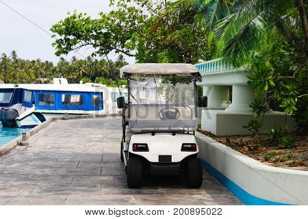 Modern buggy at tropical resort