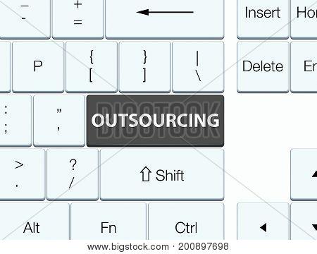 Outsourcing Black Keyboard Button