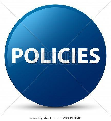 Policies Blue Round Button