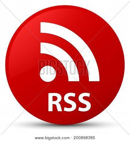 Rss Red Round Button