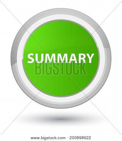 Summary Prime Soft Green Round Button