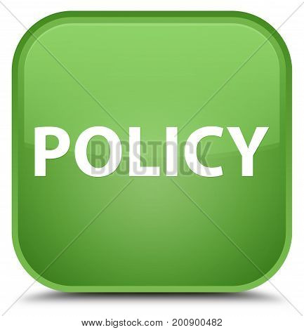 Policy Special Soft Green Square Button