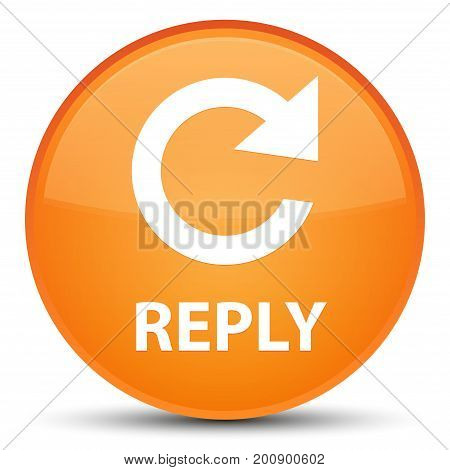 Reply (rotate Arrow Icon) Special Orange Round Button