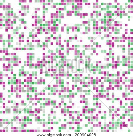 Abstract texture of pink, green, white mosaic / inlay texture - random ordered squares