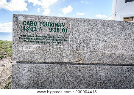 Cabo Tourinan, Most Western Point Of Mainland Spain