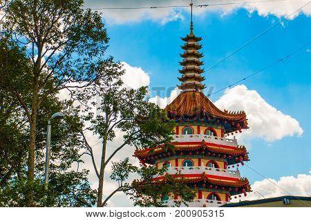 Tua Pek Kong Temple The Beautiful Chinese Temple Of The Sibu City's Of Sarawak, Malaysia, Borneo