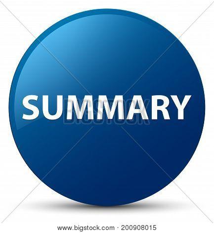 Summary Blue Round Button