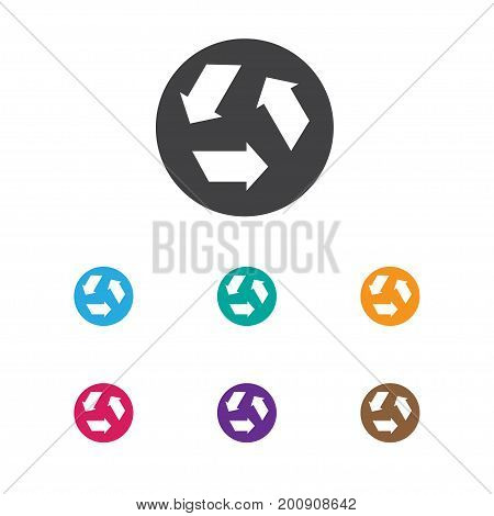 Vector Illustration Of Cleanup Symbol On Garbage Recycling Icon