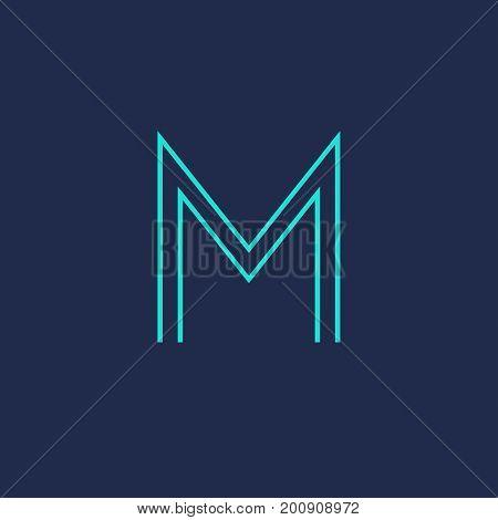M letter icon. M monogram or emblem. Vector design element for branding.