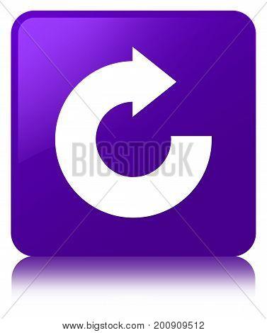 Reply Arrow Icon Purple Square Button