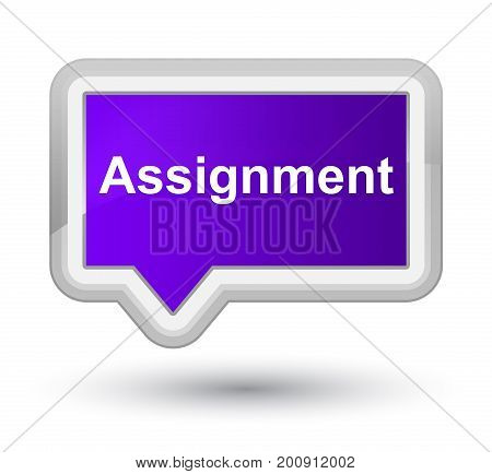 Assignment Prime Purple Banner Button
