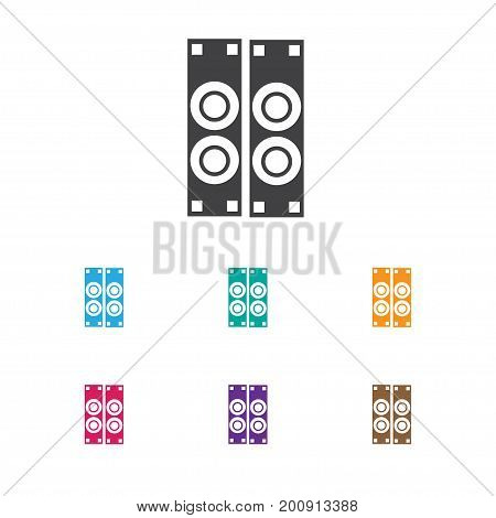 Vector Illustration Of Sound Symbol On Sound Amplifier Icon