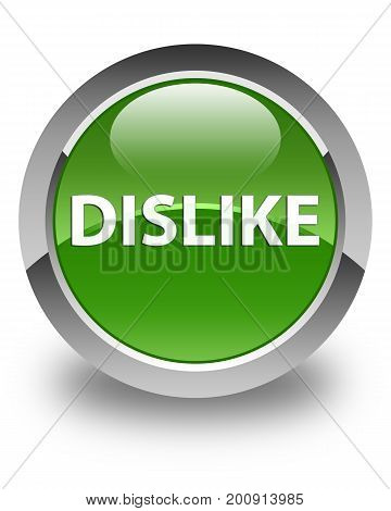 Dislike Glossy Soft Green Round Button