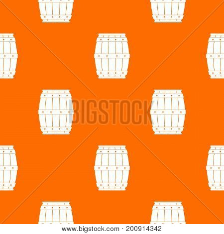Wooden barrel pattern repeat seamless in orange color for any design. Vector geometric illustration