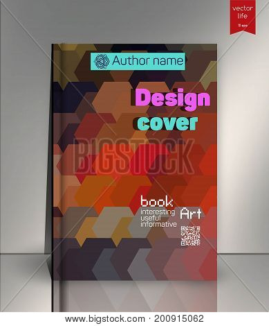 Vector illustration, Gift voucher template with colorful pattern. Discount coupon for business.