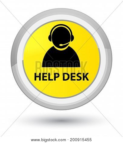 Help Desk (customer Care Icon) Prime Yellow Round Button