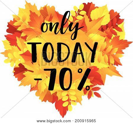 Autumn Sale Only Today -70% Banner