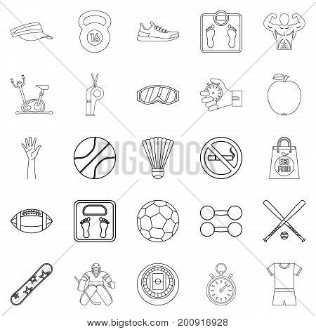 Vitality icons set. Outline set of 25 vitality vector icons for web isolated on white background