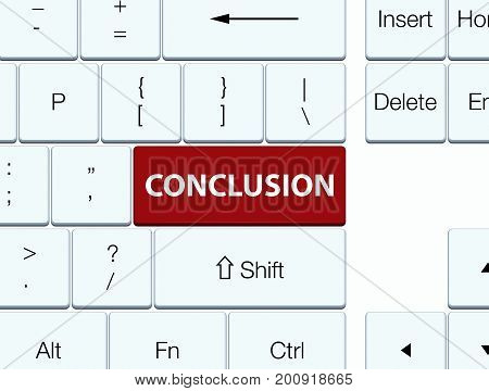 Conclusion Brown Keyboard Button