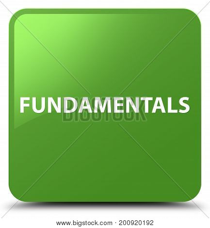 Fundamentals Soft Green Square Button