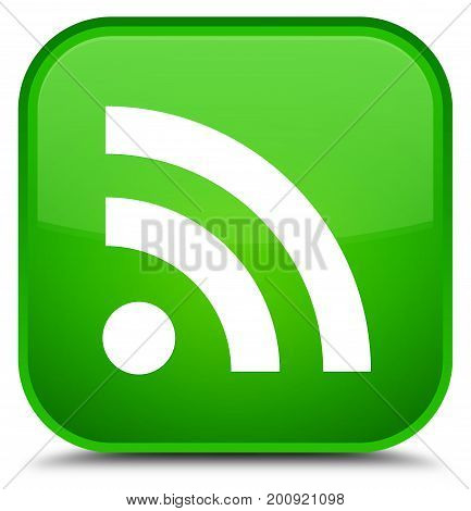 Rss Icon Special Green Square Button