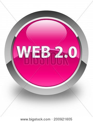 Web 2.0 Glossy Pink Round Button