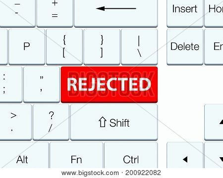 Rejected Red Keyboard Button