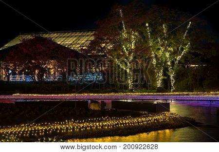 Nabana No Sato, Light Festival At Nagashima, Mie Prefecture. Japan
