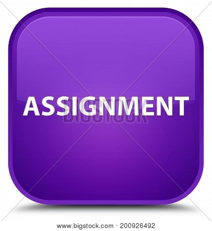Assignment Special Purple Square Button
