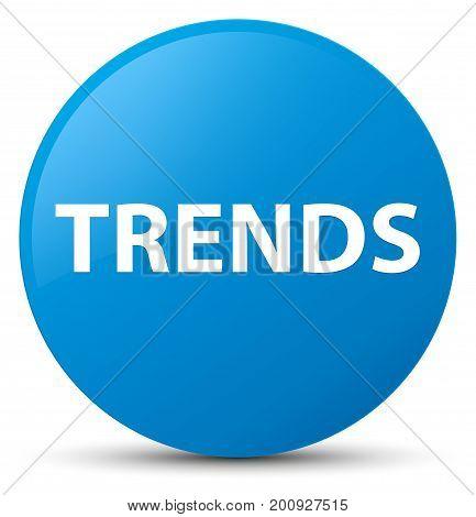 Trends Cyan Blue Round Button