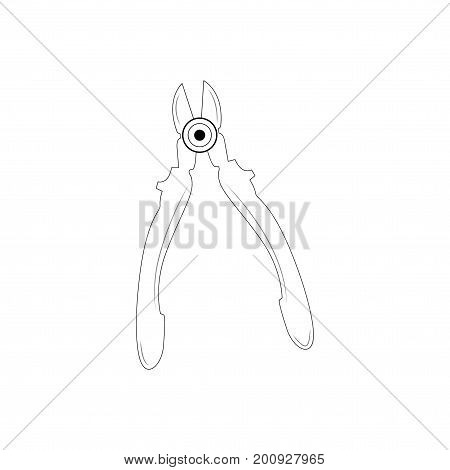 Image of a nippers on a white background representing an industrial concept