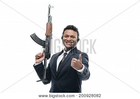 Afro Bodyguard With Thumb Up
