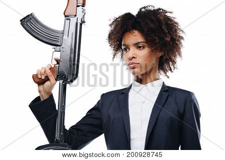Female Killer With Rifle