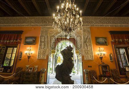 Interiors Of Palacio De Las Duenas, Seville, Andalusia, Spain