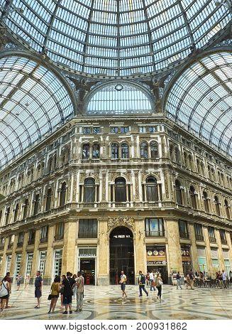 Galleria Umberto I In Naples. Campania, Italy.